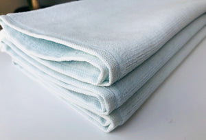 Deluxe Premium Quality Cotton Fingertip Towels, Light Blue Color