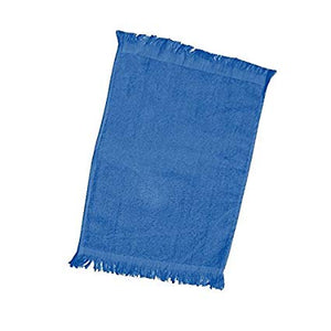 "wholesale Economy 12 Pack Fingertip Towels With Fringe, Royal 11"" x 18"" in bulk"