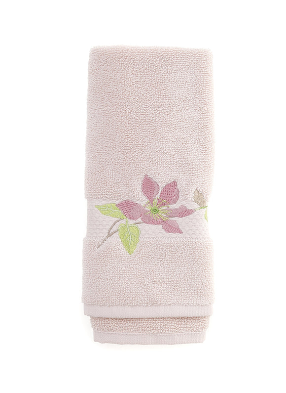 Floral Pattern Fingertip Towels, Pink Color