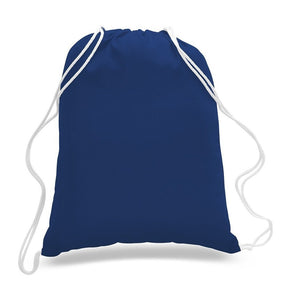 12 Pack Royal Blue Color Budget Friendly Sport Drawstring Backpacks, %100 Cotton