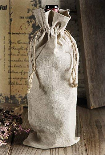wholesale Linen Wine Bags in bulk