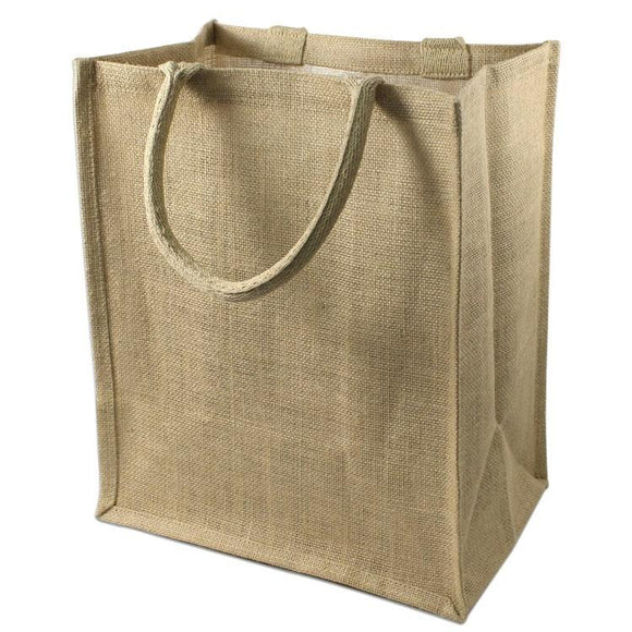 wholesale Burlap Jute Wine Totes With Dividers, (6 Bottles)