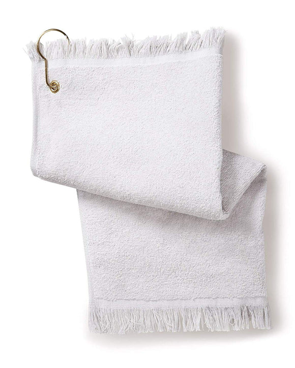12 Pack Terry Velour Fingertip Golf Towels with Fringed Ends, w/Corner Grommet