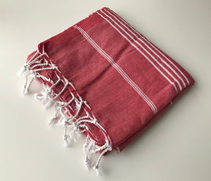 Set of 6, Tradition Turkish Towel Set, Mix Color Bath and Beach Towels, 100% Turkish Cotton