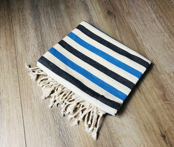 Royal and Navy Blue Color Premium 100% Cotton Turkish Peshtemal Beach Towels