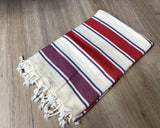 Maroon and Red Color Premium 100% Cotton Turkish Peshtemal Beach Towels