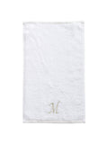 Monogrammed Fingertip Towels, Initial Embroidered Style Tocotowels