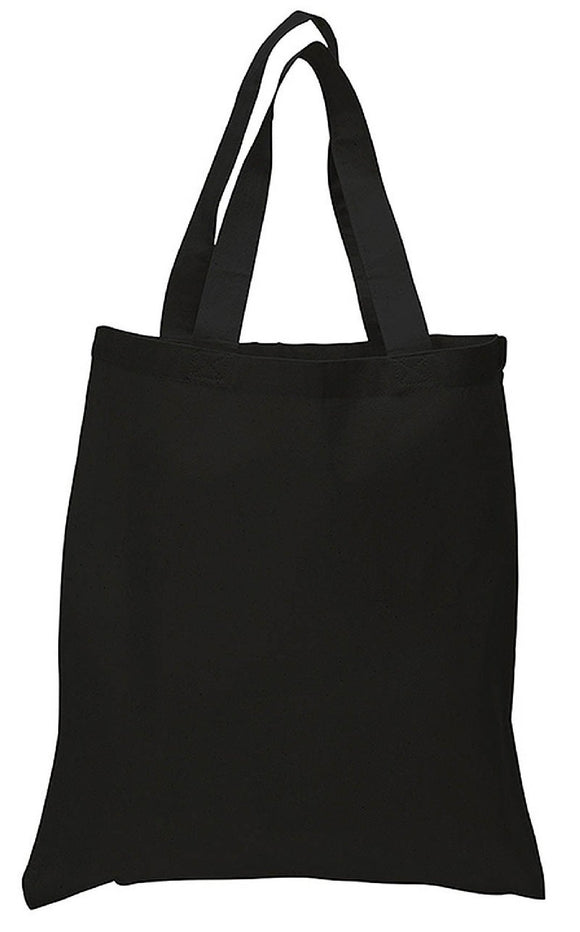 wholesale bulk Black Color Canvas Reusable Shopping Tote Bags, Flat