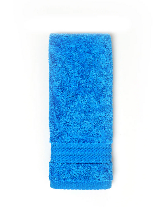 Cotton Fingertip Kitchen Towels Set of 3, Size 11x18 inch, Royal Blue