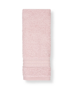 Cotton Fingertip Kitchen Towels Set of 3, Size 11x18 inch, Light Pink