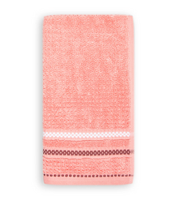 Terry Cotton Fingertip Kitchen Towels Set of 3, Size 11x18 inch, Pink