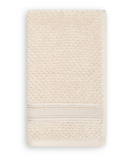 Terry Cotton Fingertip Towels, Set of 3, Cream Color