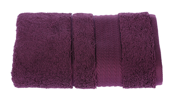 Turkish Cotton Hand Towels, Soft and High Absorbent, Set of 2, Maroon Color