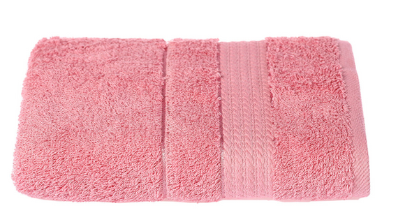 Turkish Cotton Hand Towels, Soft and High Absorbent, Set of 2, Pink Color