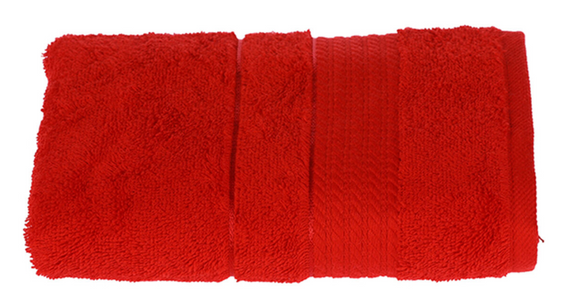 Turkish Cotton Hand Towels, Soft and High Absorbent, Set of 2, Red Color