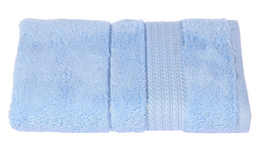 Turkish Cotton Hand Towels, Soft and High Absorbent, Set of 2, Light Blue Color