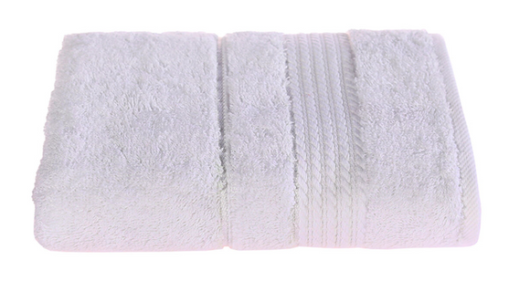 Turkish Cotton Hand Towels, Soft and High Absorbent, Set of 2, White Color