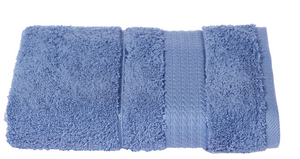 Turkish Cotton Hand Towels, Soft and High Absorbent, Set of 2, Royal Blue Color
