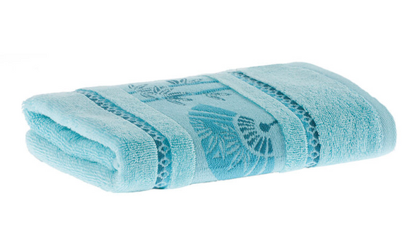 Turquoise Color Decorative Fingertip Towels