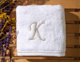 Monogrammed Fingertip Towels, Initial Embroidered Style