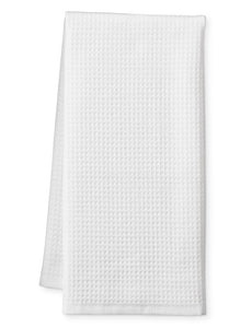 Premium Turkish Cotton Waffle Weave Fingertip Towels in White
