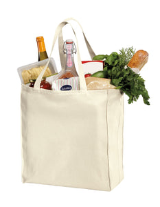 Web Handle Canvas Twill Shopper Tote Bags in bulk