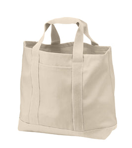 Fancy Beach Bags, Large Boat Tote with zip, Twill Canvas