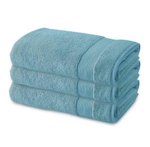 3 Pack Premium Quality Terry Cotton Fingertip Towels, Turquoise Color