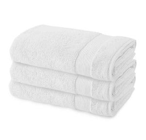 3 Pack Premium Quality Terry Cotton Fingertip Towels, White Color