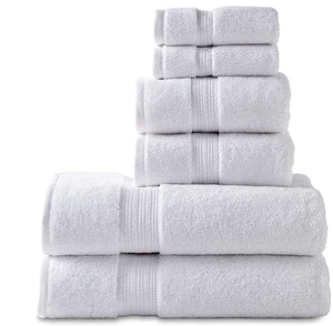 6 Piece Premium Quality Cotton Bath Towel Set