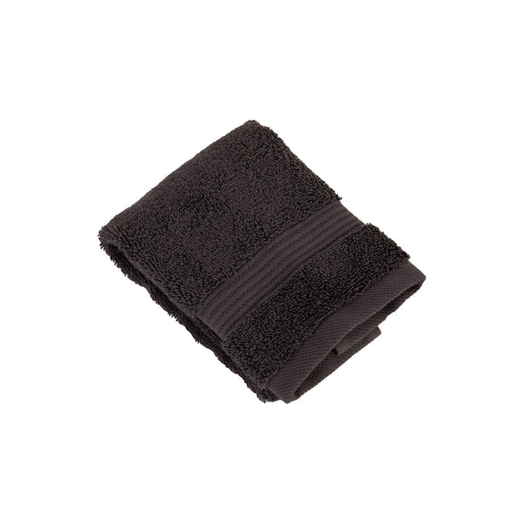 3 Pack Premium Quality Cotton Fingertip Towels, Black Color