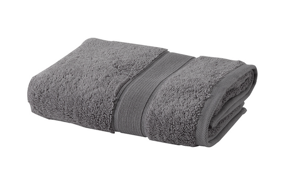 Premium Quality Turkish Terry Cotton Fingertip Towels, Coal Color, Set of 3