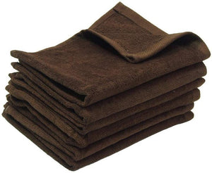 wholesale bulk 6 Eco-Pack Brown Fingertip Sports Golf Towels, Small Hand Towels