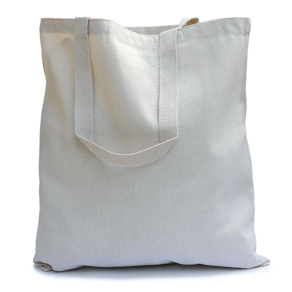 wholesale Natural Cotton shopping Carrying canvas Tote Bags in bulk blue