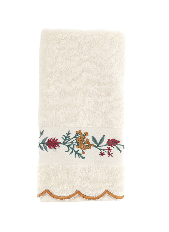Floral Pattern Luxury Fingertip Towels, Bathroom Decorative Hand Towel