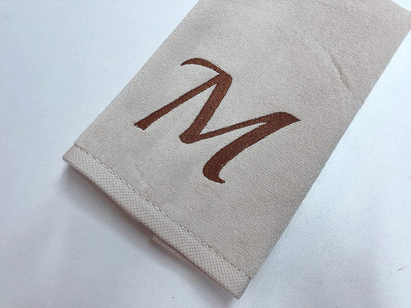 Custom Embroidered Fingertip Velour Towels