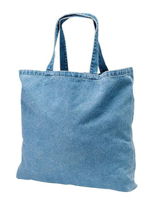 wholesale Washed Denim Canvas Tote Bags Bulk