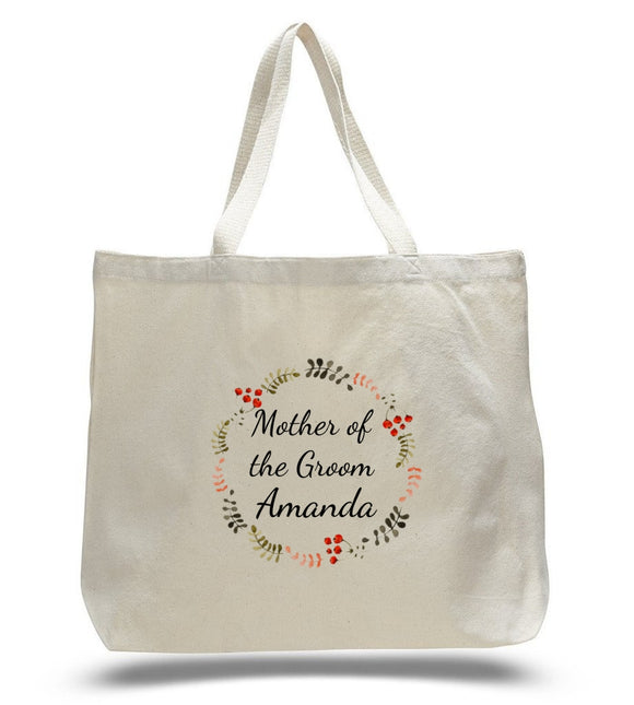 Personalized Mother of the Groom Tote Bags
