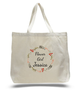 Personalized Flower Girl Tote Bags