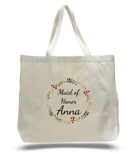 Personalized Maid of the Honor Tote Bags