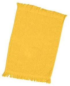 "240 Pack Bulk Fingertip Towels, Gold Color Velour, 11"" x 18""  (Fringe Ends)"