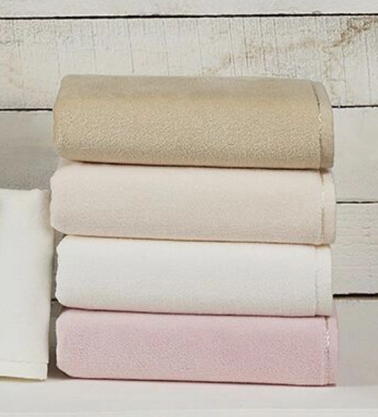 3 Pack Deluxe Premium Quality Cotton Fingertip Towels, Pink Color