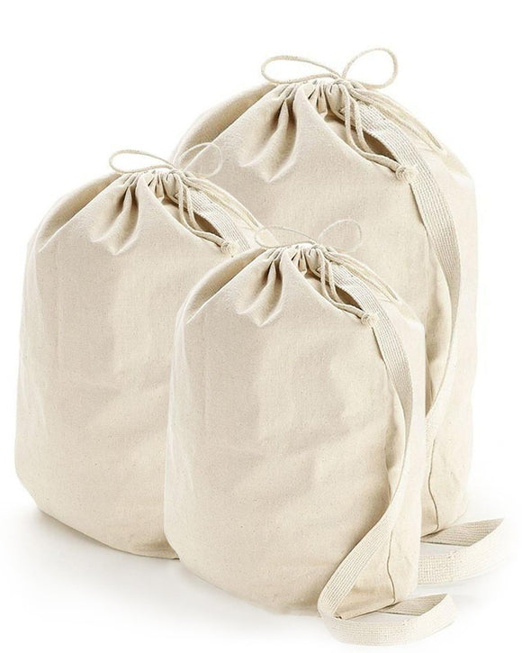 wholesale bulk Heavy Duty Natural Canvas Laundry Bags