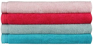 Wholesale Hotpink Terry Cotton Fingertip Guest Towels, Heavyweight