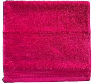 Wholesale Hot Pink Terry Cotton Fingertip Guest Towels, Heavyweight