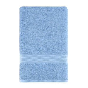 Wholesale Light Blue Color Fingertip Hand Towels, Extra-Absorbent and Soft Terry Towel for Bathroom