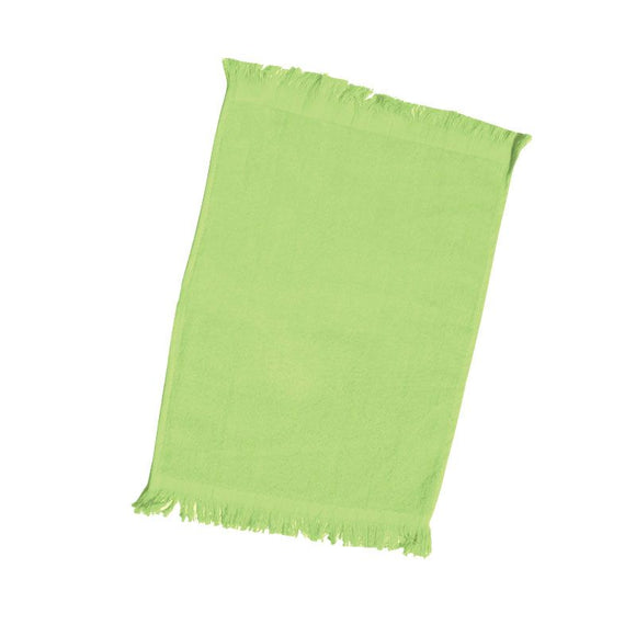 wholesale Economy 12 Pack Fingertip Towels With Fringe, Lime 11