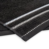Terry Cotton Fingertip Kitchen Towels Set of 3, Size 11x18 inch, Black