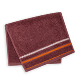 Terry Cotton Fingertip Kitchen Towels Set of 3, Size 11x18 inch, Maroon