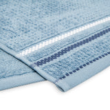 Terry Cotton Fingertip Kitchen Towels Set of 3, Size 11x18 inch, Blue